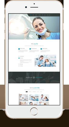 Site web responsive de dentiste